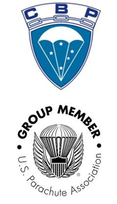 Logos da Equipe de Paraquedistas e instrutores da Sky Company