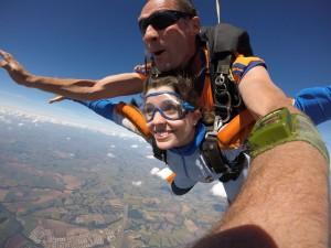 Fotografia do salto de paraquedas