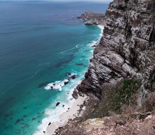 Vista do mar na Cidade do Cabo na África do Sul