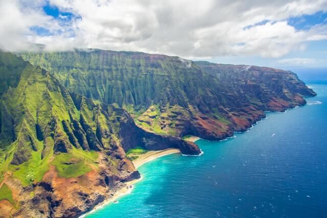 Praia do Havaí nos EUA