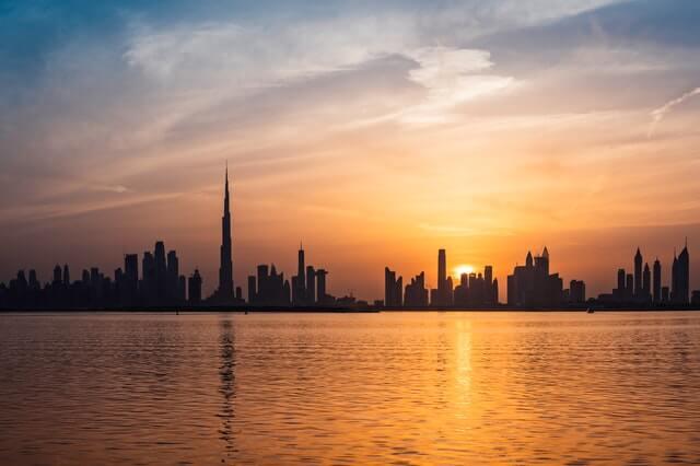 Pôr do sol em Dubai
