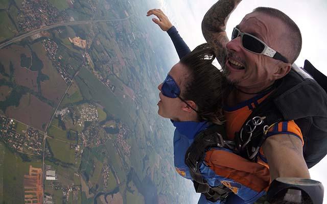 Modalidade freestyle no paraquedismo