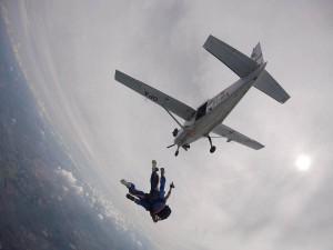 Salto de paraquedas em Boituva