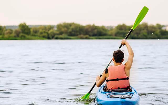 Canoagem nos Jogos de Aventura e Natureza
