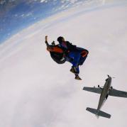 Paraquedismo nos Jogos de Aventura e Natureza
